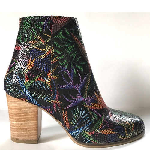 bird of paradise block heel boot black
