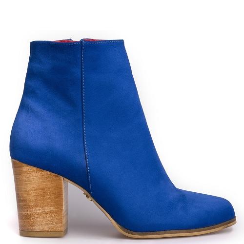 toucan block heel boot kobalt