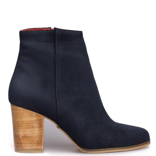 toucan block heel boot marine