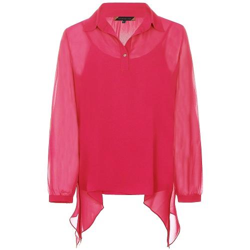 voile blouse fuchsia