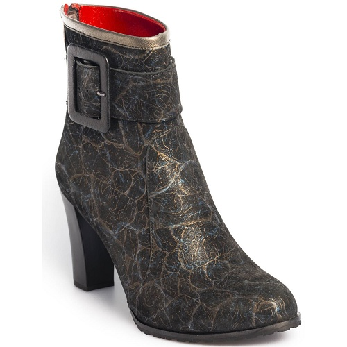 contribution ankle boot blue gold