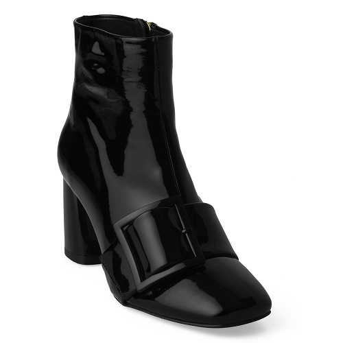 corine boot with belt black
