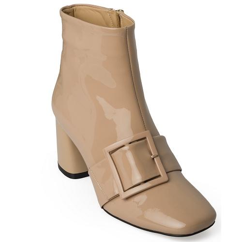 corine boot with belt nude