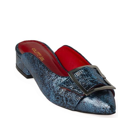 deniz flat shoe turquoise