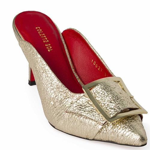 deniz queeny shoe gold