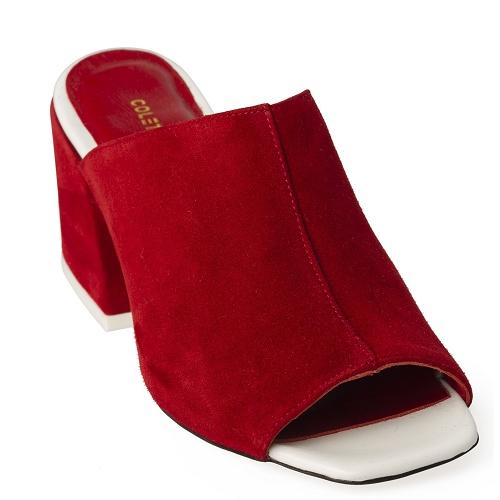 joo yon slip on shoe red