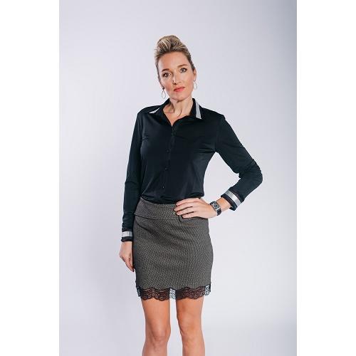 sierkraag blouse zwart