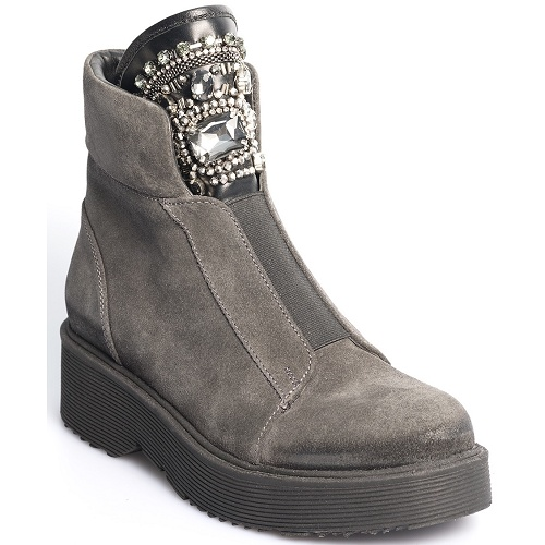 courage flat boot grey