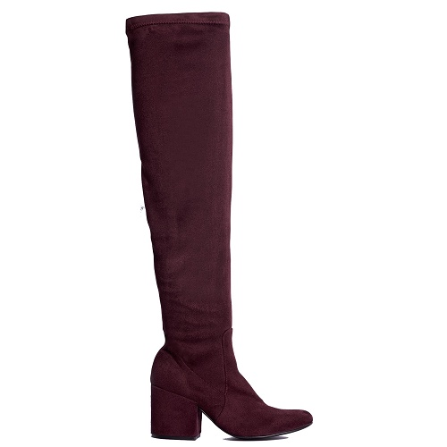 confidence over the knee boot bordeaux