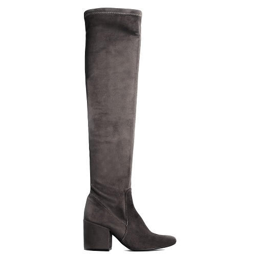 confidence over the knee boot grey